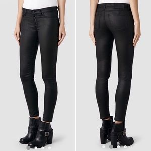 All Saints black skinny jeans